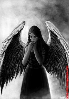 Dark Angels, Angels And Demons, Fallen Angels, Dark Fantasy Art, Gothic Angel, Beautiful Dark Art, Angel Drawing, Dark Artwork, Angel Tattoo Designs