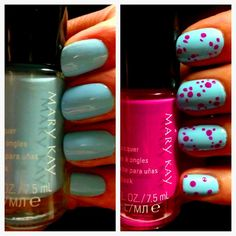 We love this Easter egg inspired manicure with the Limited-Edition† Mary Kay® Zen in Bloom Nail Lacquer in Blue Lotus and Pink Bamboo! Shop 24/7 Angie - FREE S/H in USA - Always!!  http://www.marykay.com/angela7/en-US/Mary-Kay-Nail-Lacquer/Blue-Lotus/200236.partId