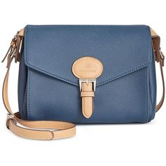 Giani Bernini Saffiano Square Crossbody, ($44) ❤ liked on Polyvore featuring bags, handbags, shoulder bags, navy, navy purse, giani bernini crossbody, navy blue shoulder bag, navy blue purses and crossbody handbags