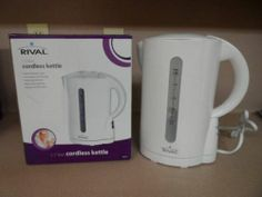 KETTLE, CORDLESS, RIVAL, WHITE COLOR, NEW