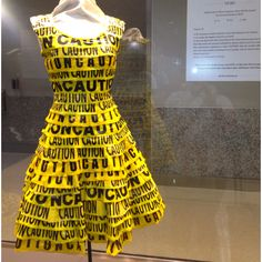 Recycled fashion Caution Dress