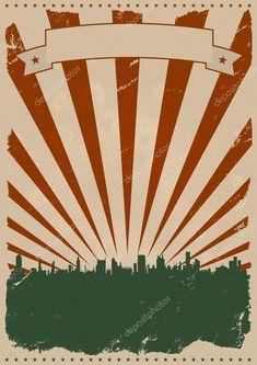 Herunterladen - Coole Vintage Poster amerikanische — Stockillustration #7885154