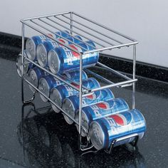 The 12-can beverage holder allows you to keep drinks cold without sacrificing precious refrigerator storage space.