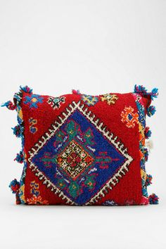 One-Of-A-Kind Moroccan Berber Pillow @ urbanoutfitters Bed Throws, Throw Pillows, Red Colour Palette, Ethnic Bag, Boho Gypsy, Home Textile, Home Decor Accessories, Decorative Items, Wall Tapestry
