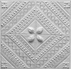 Free Knitted/Knitting Coverlet/Counterpane Square Pattern