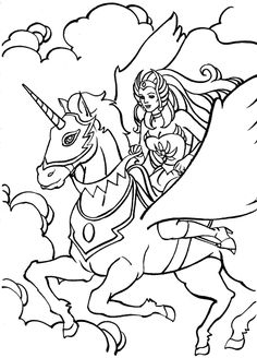 She Ra Coloring Book Page Super Hero Sheets Barbie Pages