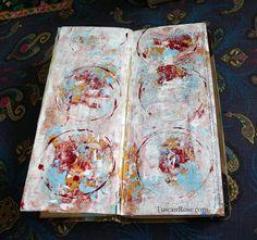 Art journal inspiration. Rambling Rose. Typepad blog. Handy day journal big circles