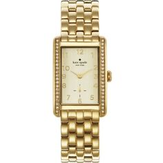1YRU0118 Cooper gold-toned stainless steel watch ($355) ❤ liked on Polyvore featuring jewelry, watches, gold, logo watches, goldtone jewelry, stainless steel jewelry, water resistant watches and stainless steel wrist watch
