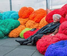 Sheila Hicks (Pictured): Foray into Chromatic Zones in the Hayward Gallery Project Space, Southbank, London UK 23 Feb Sculpture Textile, Soft Sculpture, Art Installation, Op Art, Sheila Hicks, Hayward Gallery, Textile Museum, Knit Art, First Art