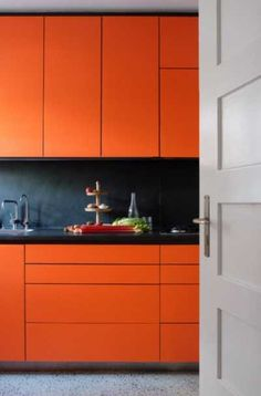 23 Orange Kitchen Cabinet Ideas | Sebring Design Build Burnt Orange Kitchen, Orange Kitchen Decor, Kitchen Colors, Orange Cabinets, White Kitchen Cabinets, Kitchen Room Design, Interior Design Kitchen, Orange Kitchen Designs, Ikea Design