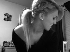 braid into a low ponytail.