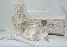 Baptism candle set christening candle hermosa vela para