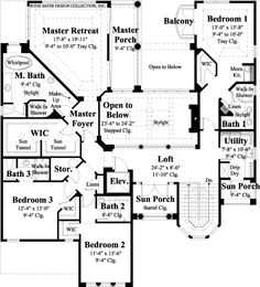 The Vasari House Plans Second Floor Plan - House Plans by Designs Direct.