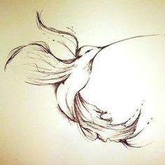 Graceful Hummingbird Tattoo Design