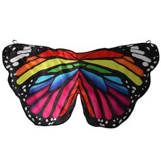 AmazonSmile: Girls Satin Fabric Monarch Butterfly Rainbow Wings: Toys & Games