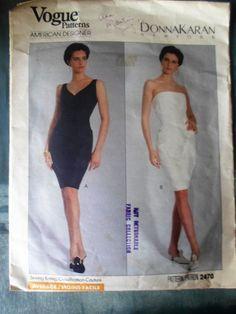 Vogue American Designer Pattern 2470 Donna Karan Misses Dress Sz Cut Miss Dress, Vogue Patterns, Donna Karan, Hemline, Pattern Design, American, Ebay, Vintage, Collection