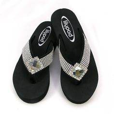 Blingy Flip Flops, Lilly pad flip flops,
