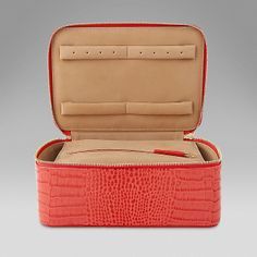 d649156296b33 Square Jewellery Pouch - Smythson Coral Print