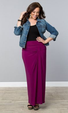 Exhibit your easy going elegance and keen eye for style in our Jetsetter Maxi Skirt. #plussize #plussizefasion www.curvaliciousclothes.com