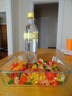 vodka gummy bears, jello shots, skittles vodka - all the good recipes here!