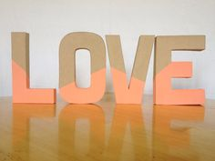 LOVE Decorative Letter Set