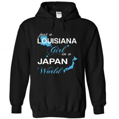 WorldBlue Louisiana-Japan Girl - #hoodies #cashmere sweater. GET IT NOW => https://www.sunfrog.com//WorldBlue-Louisiana-Japan-Girl-8709-Black-Hoodie.html?68278