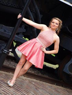 Halter Hoco Dress With Beads. Homecoming Dresses LongHoco DressesBridesmaid  ... 6c294bcde6d5
