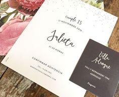 le pou - grafica para eventos - invitaciones Ideas Para Fiestas, Diy And Crafts, Wedding Invitations, Place Card Holders, Party, 15 Years, Ticket Invitation, Vestidos, Fiesta Invitations