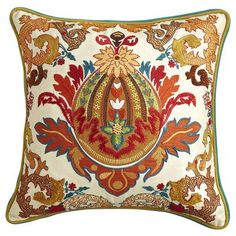 Piped Embroidered Pillow http://www.pier1.com/Piped-Embroidered-Pillow/2536998,default,pd.html