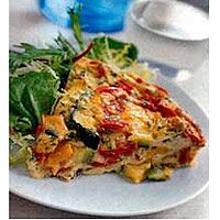 Roasting the vegetables intensifies their flavor in this egg casserole recipe. Make this for brunch as a delicious low-calorie option for your guests.