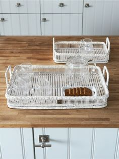 Positano Serving Tray S/2 - Rivièra Maison - Summer Collection - Dienblad