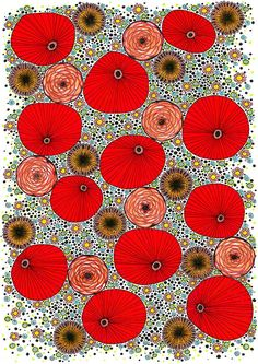 Original Drawing Poppy Pattern 8.5x12 up to by EnchantedCrayons, $15.00
