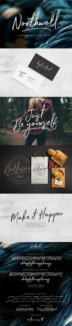Northwell Font – A rustic, dapper handwritten font with a personal charm. With quick dry strokes and a signature style, Northwell is perfect for branding projects, homeware designs, product packaging (Cool Designs Backgrounds) Handwritten Script Font, Typography Fonts, Typography Design, Branding Design, Calligraphy Fonts, Web Design, Your Design, Design Cars, Logos Online