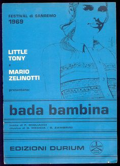 """Little Tony + Mario Zelinotti """"Bada Bambina"""" (spartito) Sanremo 1969"""