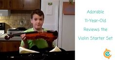 Check out this adorable video of Kole, age 11 and his personal review of a violin starter kit.