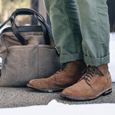 "c3f416a45f74 Oak Street Bootmakers on Instagram  ""People often ask us of if they should  avoid wearing their Horween Natural Rough-Out footwear in the snow and ..."