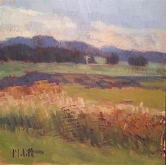 """Daily+Paintworks+-+""""Landscape+Oil+Painting+Midwest+Hike+Late+Summe""""+-+Original+Fine Art+for+Sale+-+©+Heidi+Malott"""