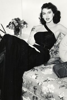 Ava Gardner photographed during the filming of The Bribe (1949)