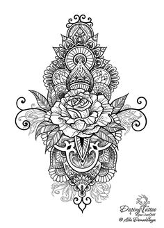 Роза в узоре