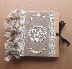 Rustic 'Mr & Mrs' Hessian Burlap Wedding Guestbook/Scrapbook/Photo Album  | eBay Hessian, Burlap, Photo Album Scrapbooking, Guestbook, Personalized Wedding Gifts, Wedding Guest Book, Wedding Supplies, Mr Mrs, Kitty