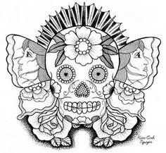 Coloring Page Skull Sugar Mexican Candy | sugar-skull-butterfly-80-dpi-blog-version.jpg