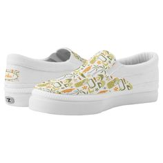 #sneakers #shoes #SlipOn #midcentury #midmod #mcm #modern #retro #atomic #tropical #tiki #hawaiian #hawaii #summer #beach #vacations #aloha #miavaldez #zazzle