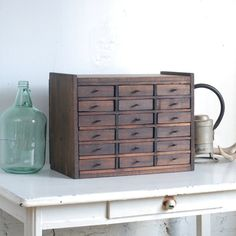 Vintage Wooden Card Catalog / 18 Drawer by thevintagetreehouse, $325.00