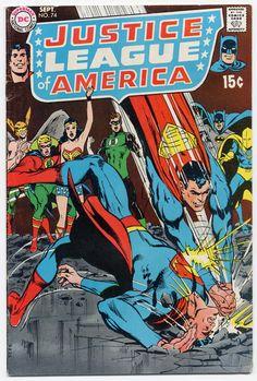 justice league comic books  | The Justice League of America 74 Comic Book Neal Adams Comics VG ...