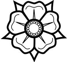 10 best flower outlines images on pinterest mandalas flower heraldisch lippische rose black white line art tattoo tatoo flower mightylinksfo