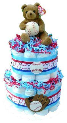 baseball diaper cake!