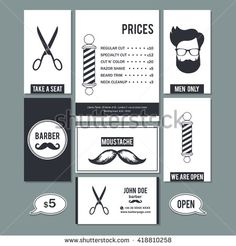 Free retro barber shop business card psd template freepsdfiles hair salon barber shop vintage sign and services prices design business cards template set flashek