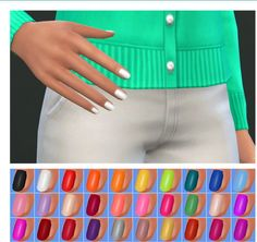 Veranka: Trendy Nail Polishes • Sims 4 Downloads
