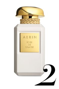 The notes: rose centifolia, Bulgarian rose, rose absolute, violet wood, ambrox, musk It smells like: Standing in the center of a rose garden after a rain and inhaling really deeply. Aerin Rose de Grasse, $185, aerin.com.