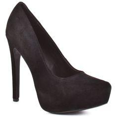 KELSI DAGGER : BRETTE - BLACK SUEDE fav work shoe.